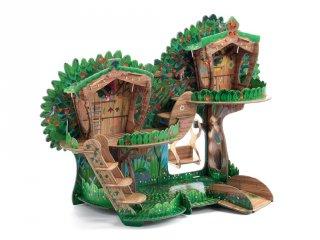 Forest house, 41 db-os Djeco 3D puzzle és szerepjáték (7713, 4-8 év)