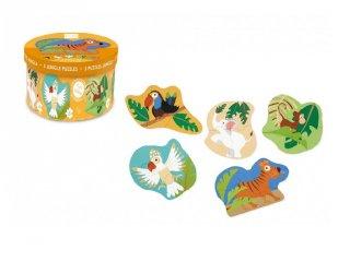 Forma kirakó A dzsungel állatai, bébi puzzle (Scratch, 2-4 év)