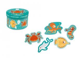 Forma kirakó Az óceán állatai, bébi puzzle (Scratch, 2-4 év)