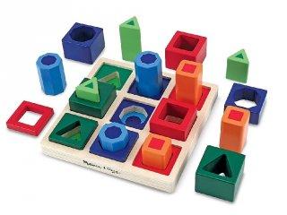 Formabeillesztős szín-, és formafelismerő játék (MD582, logikai fajáték, 2-8 év)