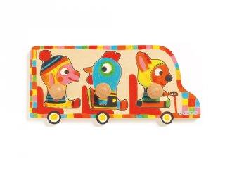 Formaberakó autóbusz, Djeco fa bébijáték (1117, 1-2 év)