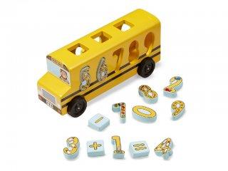 Formaberakós számos busz (MD, fa bébijáték, 2-5 év)