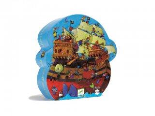Formadobozos puzzle, Barbarossa hajója (Djeco, 7241, 54 db-os kalózos kirakó, 5-10 év)