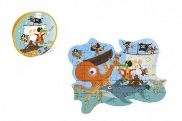 Formadobozos puzzle Kalózok, 29 db-os kirakó (Scratch, 3-5 év)
