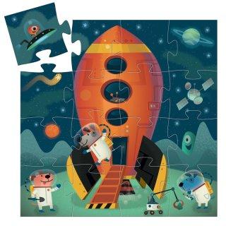 Formadobozos puzzle Űrhajó, Djeco 16 db-os kirakó - 7271 (2-4 év)