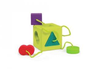 Formaillesztő kocka (1201FB, készségfejlesztő bébijáték, 1-3 év)