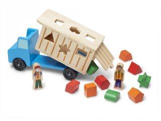 Formarendező kukás autó fából (MD, 9397)