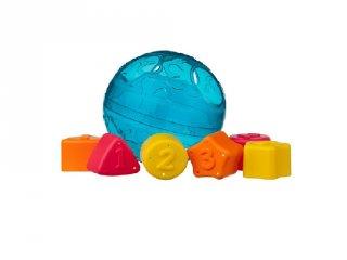 Formaválogató labda kék, bébijáték (6 hó-2 év)