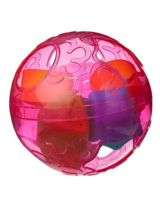 Formaválogató labda rózsaszín, bébijáték (6 hó-2 év)