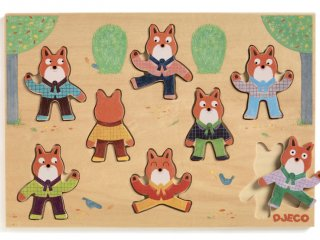 Foxy róka formaberakó (Djeco, 1253, fa bébijáték, 1-3 év)