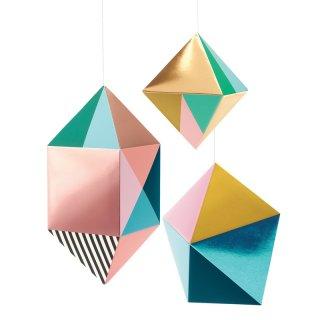 Függődísz 3D Fémes formák, Djeco szobadekoráció - 4950