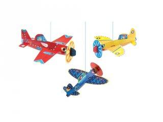 Függődísz 3D Repülők, Djeco szobadekoráció - 4949