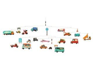 Függődísz, Közlekedés (Djeco, 4309, járműves szobadekoráció)