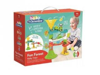 Fun Forest bébi golyópálya, építőjáték babáknak (CLEM, 1,5-3 év)