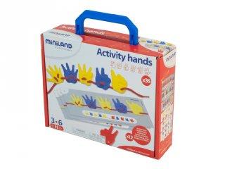Fűzős játék, kezekkel (Miniland, 95280, logikai játék, 3-6 év)