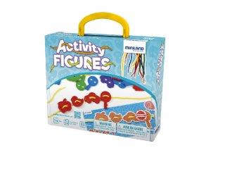 Fűzős játék tárgyakkal, ÚJ kiadás (Miniland, 45302, logikai játék, 3-6 év)