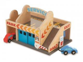 Garázs és autómosó fából (Melissa&Doug, 9271, autós szerepjáték, 2-6 év)