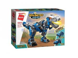 Géptech: dinoszaurusz, pick-up, sivatagi SUV, Lego kompatibilis építőjáték készlet (QMAN, 4803, 6-12 év)