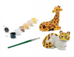 Gipsz festő készlet, Állatkert, MD kreatív játék (9547, 8-12 év)