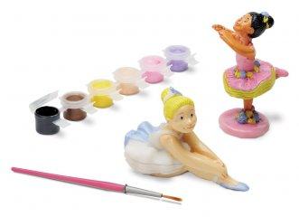 Gipsz festő készlet, balerina, MC 9 db-os kreatív játék