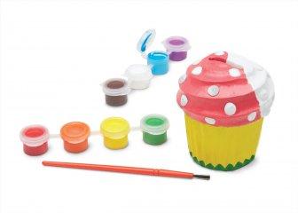 Gipsz persely festő, muffin alakú kreatív játék (MD, 8864)