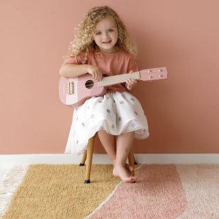 Gitár, Little Dutch fa játékhangszer, pink (7014, 3-7 év)