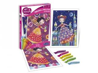 Glitteres hercegnők (Sentosphere, kreatív képalkotó szett, 5-12 év)