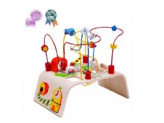 Golyóvezető asztal (FP, fa foglalkoztató játék, 1-4 év)