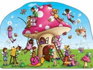Gomba házikó puzzle (Orchard, fairy cottage, 15 db-os puzzle, 2-5 év)