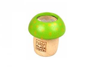 Gomba kaleidoszkóp zöld, tudományos játék fából (PT, 4317 003)