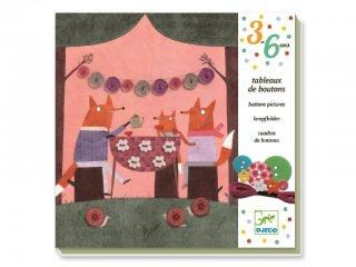Gombvarró készlet, Róka kaland az erdőben (Djeco, 8947, kreatív játék, 3-6 év)