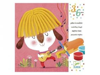 Göndör és egyenes frizura Djeco gyurmaformázós kreatív képkészítés - 9890 (3-6 év)