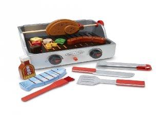 Grill és barbecue készlet, Melissa&Doug 24 db-os fa szerepjáték (9269, 3-7 év)