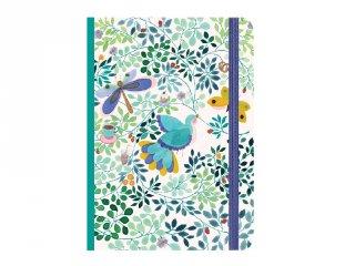 Gumipántos A6 jegyzetfüzet Anna, Djeco Lovely Paper papír írószer - 3572