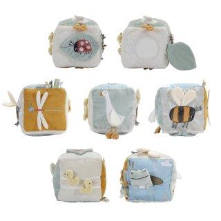 Gúnáros készségfejlesztő plüss kocka, Little Dutch babajáték (8509, 0-2 év)