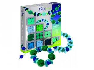 Gyapjú ékszerkészítő zöld/kék (Sentosphere, kreatív készlet, 7-14 év)