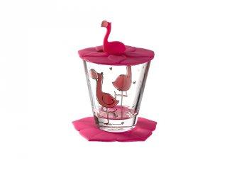 Gyerek pohár készlet 3 részes, Flamingó - Leonardo