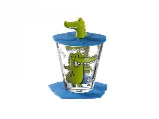Gyerek pohár készlet 3 részes, Krokodil - Leonardo