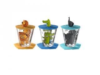 Gyerek pohár készlet 9 részes, Oroszlán, Krokodil, Elefánt - Leonardo