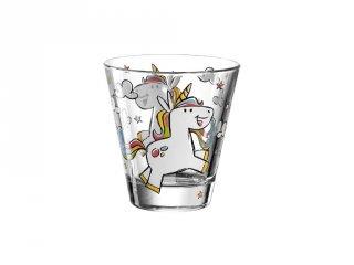 Gyerek pohár üvegből, Egyszarvú - Leonardo