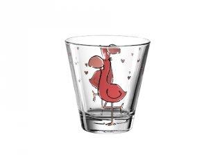 Gyerek pohár üvegből, Flamingó - Leonardo