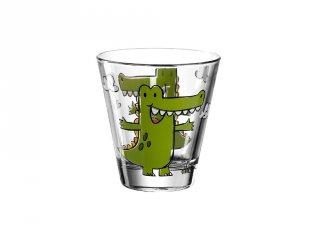 Gyerek pohár üvegből, Krokodil - Leonardo