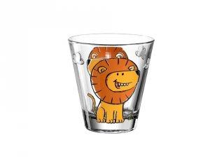 Gyerek pohár üvegből, Oroszlán - Leonardo