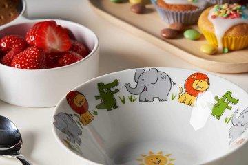 Gyerek porcelán étkészlet fiúknak 3 részes - Leonardo