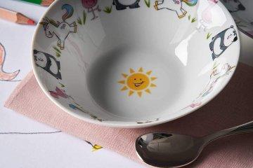Gyerek porcelán étkészlet lányoknak 3 részes - Leonardo