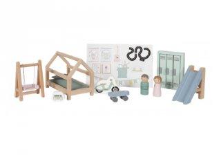Gyerekszoba bútor szett, babaház kiegészítő, Little Dutch fa szerepjáték (4478, 3-7 év)