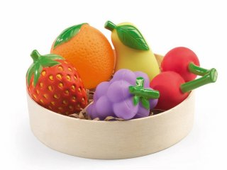 Gyümölcsök (Djeco, 6608, 5 db-os konyhai kellék, 2-7 év)