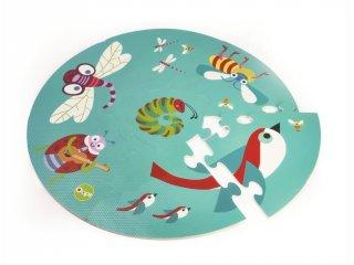 Habszivacs játszószőnyeg, Apró állatok (Oops, 7 db-s puha puzzle szőnyeg, 3 hó-2 év)