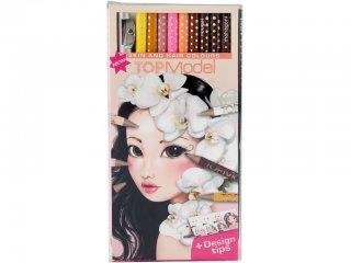 Haj-, és arc színezéshez színes ceruza készlet (TM, 12 db-os rajzeszköz, 8-12 év)