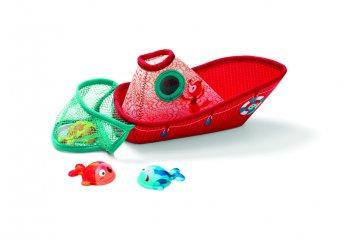 Halászhajó halakkal - fürdőjáték (Lilliputiens, hajó, fürdőjáték, 86773, 6 hónap-3 év)